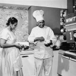 WHS Image ID 99641, Carson and Beatrice Gulley being filmed for What's Cookin'